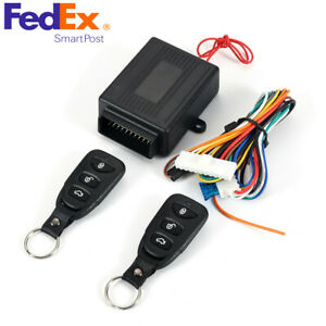 Car Remote Control Central Door Locking Keyless Entery System 10 14v Usa Stock