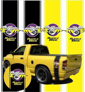 Decal For Dodge Ram Rumble Bee Side Stripes Stickers Vinyl Window Laptop