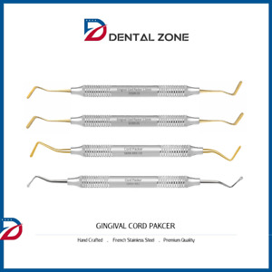 Cord Packer Dental Gingival Retraction Dental Instruments set Of 4