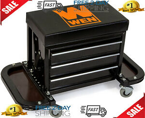 Work Stool Rolling Chair Creeper Seat Tools Tray Cabinet Mechanics Auto Car Shop