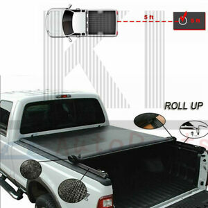 5ft Vinyl Soft Roll Up Tonneau Cover For 2016 2019 Toyota Tacoma Sr5 Truck Bed