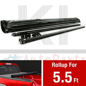 Roll Up Tonneau Cover For 2007 2021 Toyota Tundra 5 5 Ft 66 Inch Short Bed Lock
