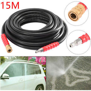 50ft 5800psi Replacement High Pressure Washer Hose Tube 3 8 Quick Connect Bk