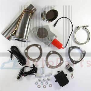 3 Inch 76mm Exhaust Control E Cut Out Valve Electric Y Pipe With Remote Kit