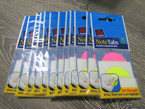 Lot Of 12 Avery Notetabs 2 X 1 1 2 10 Pack 16307 Pink And Yellow