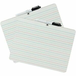 Dry Erase Lapboard With A Pen Double Sided Portable Learning Board White plain