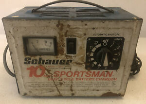 Schauer 10 Amp Sportsman Deep Cycle 6v 12v Battery Charger Ct7612 Tested