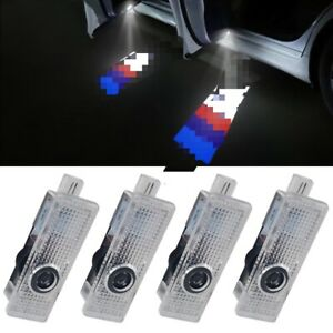 4 X Led Car Door Courtesy Light Bmw Logo M Welcome Decoration Gift For New Cars