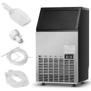 Costway Built in Stainless Steel Commercial Ice Maker Portable Ice Machine Resta