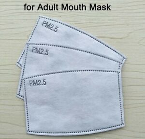 25 Pk Adult Pm2 5 Replacement Mask Filter 5 Layer Carbon Face Super Fresh Air