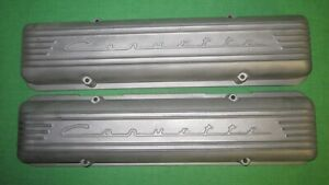 Nos In Box 56 59 Corvette 7 Fin Aluminum Valve Covers Fuel Injection Gm 3726086