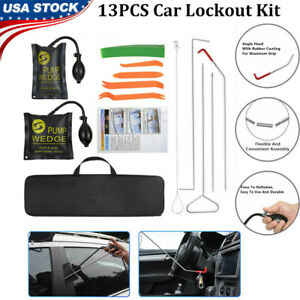 13pcs Truck Car Window Lockout Professional Kit With Air Wedge Non Marring Wedge
