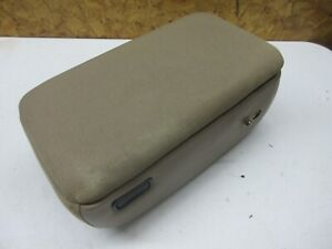 98 04 Ford Ranger Center Storage Console Armrest Lid Compartment Tan Brown Cloth