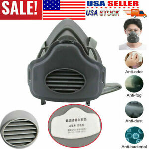 Safety Gas Mask Respirator Half Face Protect Painting Spray Facepiece W filters