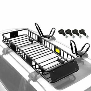 Roof Rack Rooftop Cargo Basket Kayak Rack 2pcs With 4 Straps For Canoe Sup