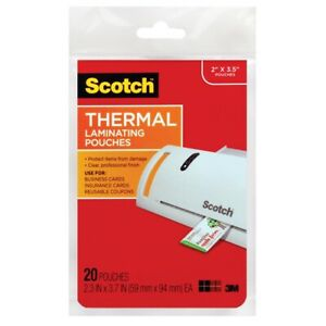 Scotch Thermal Laminating Pouches For Business Cards Business Card Size