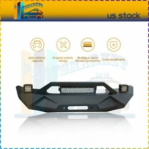 Front Bumper For Jeep Wrangler Jk 2007 2018 Assembly Protector Guard Us Fast