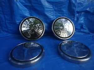 1970 1973 Ford Mustang Torino Galaxie Ltd Hubcaps D2aa 1130 Aa Set Of 4