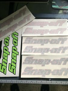 Snap Off Tools Logo Decal Sticker New