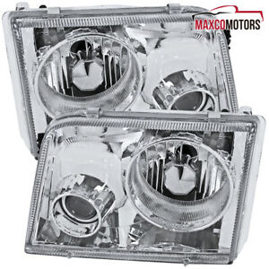 For 1993 1997 Ford Ranger Projector Headlights Lamps Pair Left Right