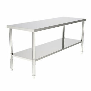 Stainless Steel 24 X 70 Nsf Commercial Home Kitchen Work Food Prep Table