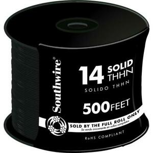 Black Solid Cu Thhn Wire 500 Ft 14 Machine Cable Electrical Single Conductor
