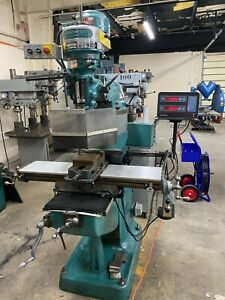 Bridgeport Series I Standard Milling Machine With 9 X 42 Table 2j Head 2 axi