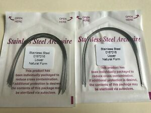 50pc Dental Orthodontic Stainless Steel Rectangular Arch Wire Natural Form
