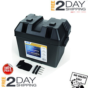 Battery Box Automotive Marine Rv Batteries Plastic Storage Group Lift Off Lid