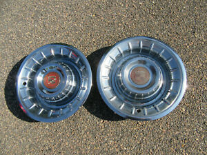 1956 Cadillac Coupe Deville Hubcaps Wheel Covers Pair