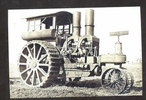 REAL PHOTO HART PARR TRACTOR VINTAGE FARMING FARM INPLEMENT POSTCARD COPY