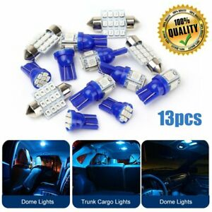 13x Auto Car Interior Led Lights Dome License Plate Lamp 12v Kit Accessories Us