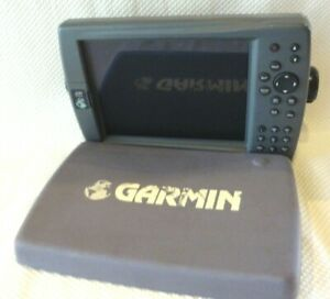 GARMIN GPSMAP 2210 COLOR CHART PLOTTER FISH FINDER GPS UNIT w/ KNOBS & SUN COVER
