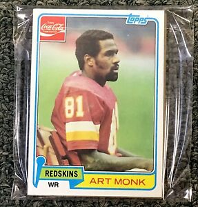 1981 TOPPS COCA-COLA FOOTBALL CARD WASHINGTON REDSKINS SET (11) ART MONK RC MINT