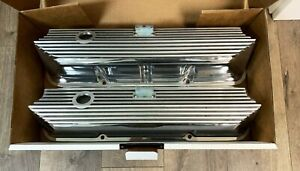 Ford Fe Valve Covers All Fins Style Polished Die Cast Aluminum Ansen Usa