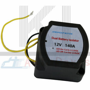 12v Smart Dual Battery Isolator Voltage Sensitive Relay 140 Amp Vsr Pro New