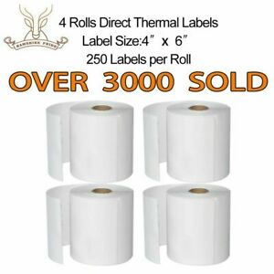 12 Rolls Hampshire Pride 4x6 Direct Thermal Shipping Labels 250 Per Roll Zebra