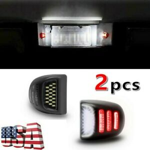 Led License Plate Lights For 99 13 Chevy Silverado Avalanche Red Oled Neon Tube