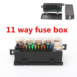 11 Way Relay Fuse Box With 6 Pcs 5 pin 12v 80a Relay Universal For Car Circuit
