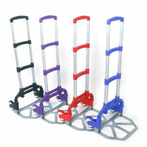 165 Lbs Cart Folding Aluminium Dolly Push Truck Hand Collapsible Trolley Luggage