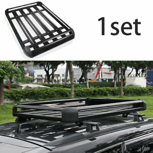 For 2011 2020 Jeep Grand Cherokee Black Aluminum Top Roof Cargo Rack Cross Bars