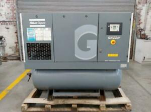 Atlas Copco 30hp Screw Air Compressor 118 7 Cfm 129 Psi Fully Serviced Tested