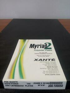 Xante2 Film Media 10x15 Polyester Plates New 200 100050