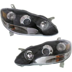 Headlight Lamp Left and right Lh Rh For Toyota Corolla 2003 2008