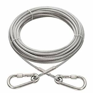 Dog Runner Cable Dog Run Trolley Tie Out Cable Dog Chains Outside Yard Camping