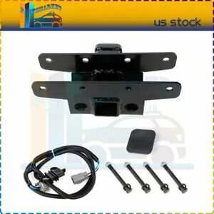 Fit For 2007 2018 Wrangler Jk Black Trailer Tow Towing Hitch Receiver