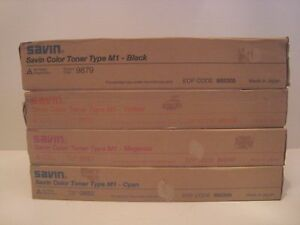 New Sealed Genuine Savin Copier Toner Type M1 9879 9880 9881 9882 C m y b