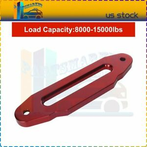 Heavy Duty Hawse Fairlead 10 Guid Universal For Winches Red 15000lbs