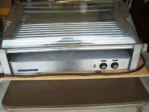 Hot Dog Roller Grill Wyott With Bun Warmer Cover 50 Dogs Works Great