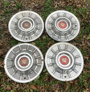 Set Of 4 Vintage 1957 Cadillac Hubcaps Wheel Covers Deville Fleetwood Series 62